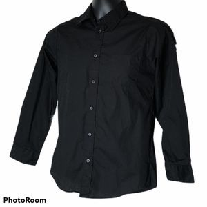 George Boy's Black Dress Shirt size xl